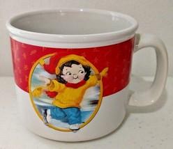USA Winter Olympics 2002 Salt Lake City Campbells Soup Mug Ice Skater Gi... - $9.28