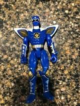 Bandai 2003 Power Rangers Dino Thunder Warrior Blue Ranger Figure - $14.50