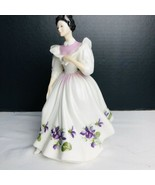 """Royal Doulton Bone China Signed """"FIGURE OF THE MONTH FEBRUARY"""" HN 2703 F... - $32.18"""