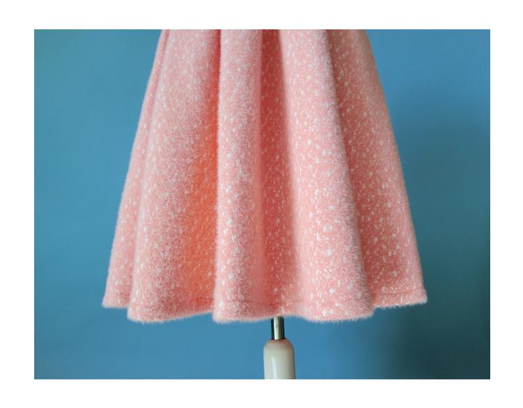 Women Winter Warm Wool Skirt Midi Full Pleat Skirt Winter Party Skirt,BLUSH PINK image 5
