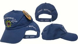 Embroidered Blue Jean Denim Washed Key West Conch Republic Hat Cap Premi... - $18.88