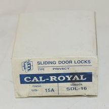 Cal Royal SDL16 Sliding Door Lock Privacy Satin Nickel Oxidized image 7