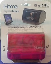 iHome - Crystal Tunes Stereo Speaker System for All MP3 Players, Pink