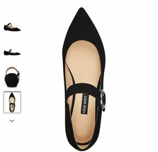 New Nine West Women's Shoes Aimee Suede Pointed Toe Mary Jane Black Size 8.5 - $45.00
