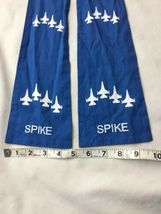 Blue AIR FORCE SQUADRON PILOT SCARF USAF 62nd FIGHTER SPIKE image 7