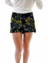 Free People Women's Flowers Print Mini Short Black Size UK 4 RRP £ 60 BCF66 - $55.79