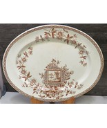 William & Thomas Adams Aesthetic Mvmt  OVAL Brown Transferware Maitland ... - $45.54