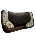 "Western Horse Royal Wool Felt Saddle Pad 32"" x 31"" x 1"" w/ Cheetah Design - $94.84"