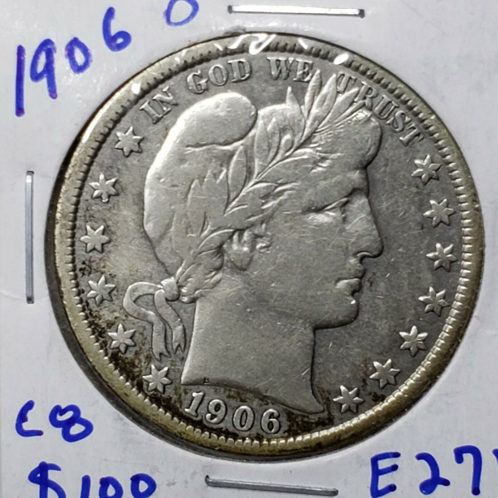 1906O Silver Barber Half Dollar Coin Lot A 182