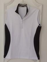 Stylish Women's Golf & Casual Sleeveless White Mock Polo, Rhinestone Zipper - $29.95