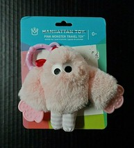 Manhattan Toy Plush Monster Sensory Rattle Activity Teething Ring Stroller - $10.10