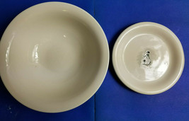 "Williams Sonoma 6"" Salad Plate & a MSE White Vegetable 8"" Serving Bowl N... - $27.95"