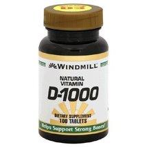 Vitamin D Tabs 1000IU Wmill Size: 100 - $6.32
