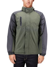 Men's Quilted Lined Removable Hood Two Toned Zipper Puffer Lightweight Jacket image 11
