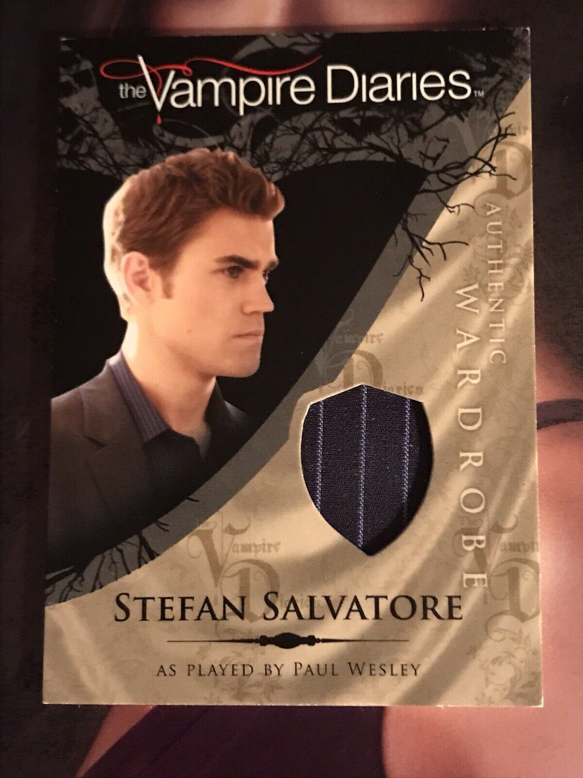 Primary image for Vampire Diaries Season 1 Wardrobe Card M2 Paul Wesley as Stefan Salvatore