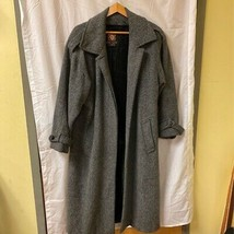 Anne Klein Womens Coats Gray Twill Long Pockets Shoulder Strap Union Mad... - $44.32