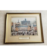 J S Lowry RA Graphic Arts (V E Day Celebrations) Framed Art Vintage - $116.88