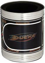 NHL Anaheim Ducks Stainless Steel Can Holder Set Hi-Definition Metallic Graphic image 4