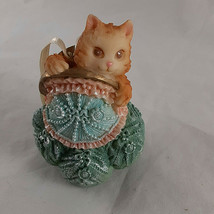 Cat Kitten in Purse Ornament for Christmas Resin 3.25 inch - $7.91