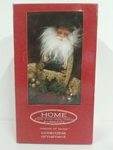 "Home for the Holidays Visions of Santa holding Garland 8"" Ornament NIB - $14.01"
