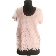 J Crew XS pink lace tee shirt top floral - $18.00