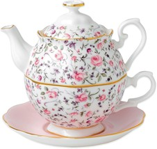 Royal Albert New Country Roses Tea Party For One in Rose Confetti - $115.78