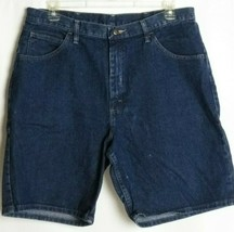 Wrangler Mens Relaxed Fit Jean Shorts Blue Dark Wash Size 38 - $18.55