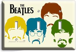 The Beatles Pop Art John George Paul Ringo Triple Light Switch Cover Home Decor - $14.57