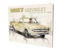 1967 Chevrolet Custom Sport Pickup Truck Ad Design16x20 Aluminum Wall Art - $59.35