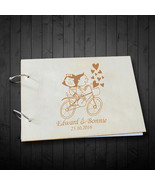 Buythrow® Groom & Bride Riding A Bicycle Wedding Signature Guestbook Custom - $43.29