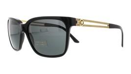 Authentic Unisex Versace VE4307 GB1/87 Square Sunglasses - Black/Grey, Size 58mm - $250.99