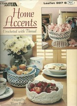 Home Accents Crocheted With Thread Leisure Arts Leaflet 997 - $6.99
