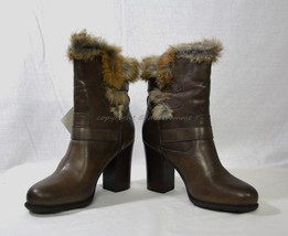NIB Frye Penny Luxe Moto Leather & Real Fur Boots Women's Size 10 M in D... - $319.00