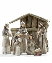 7 pc Nativity Set in Light Natural Color Wise Men, Joseph, Mary, Baby Jesus - $74.24