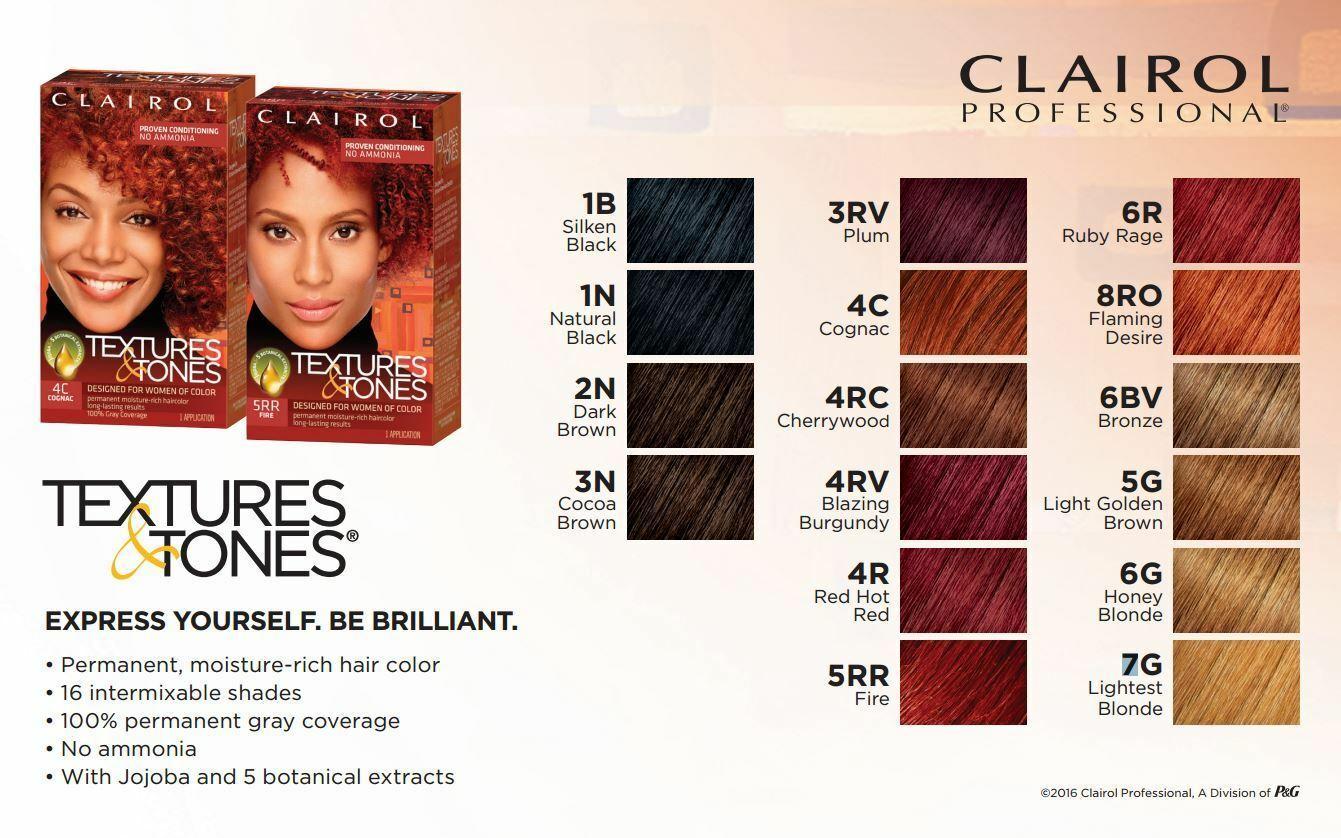 Clairol Texture & Tonalità Permanente Idratazione Rich Colorante Capelli 100%