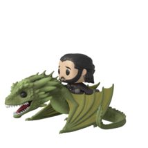 Funko Pop Jeu de Thrones Jon Snow Rhaegal Dragon Vinyle Figurine Jouet #... - $31.42