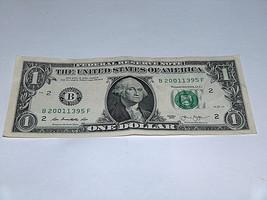 2013 $1 Dollar Bill US Bank Note Date Year Birthday 2001 1395 Fancy Mone... - $12.68