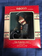 1989 New in Box - Enesco Christmas Ornament - The Purr-Fect Fit - #566462 - $8.90