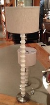 Pottery Barn Spindle Floor Lamp Ivory Sofa Stacked Stone Light Contempor... - $299.00