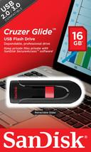 San Disk 16GB Cruzer Glide Usb 2.0 / 3.0 Flash Drive Memory Drive Stick - $10.40