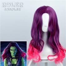 Anime Guardians of the Galaxy 2 Gamora Wavy Movie Halloween Cosplay Wig - $18.99