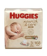 Huggies Nourish & Care Baby Wipes, 3 Packs, 168 (168 Count (Pack of 1)) - $9.65
