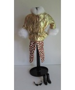 Barbie doll Fashion Avenue 1995 Boutique Outfit 14299 Gold Jacket Tights... - $15.97