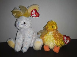 """MWMTs TY Beanie Baby 8"""" CARROTS & 5"""" CHICKIE Easter Bundle Plush Babies - $14.99"""
