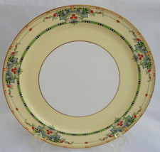 ROYAL WORCESTER HANDPAINTED CABINET DINNER PLATE S FLORAL C 1920'S ART DECO - $67.31