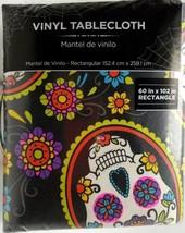 60x102 Skull Vinyl Tablecloth Day of the Dead Dia De Los Muertos - $19.99