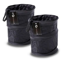 Zone Tech 2-Pack Universal Traveling Portable Car Trash Can - Black Coll... - $21.14