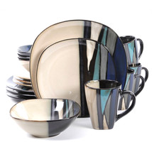 Gibson Elite Althea 16-Piece Dinnerware Set, Teal - $145.58