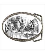 Mad Hatter March Hare Alice In Wonderland Belt Buckle - $17.99