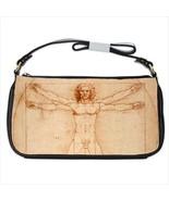 Vitruvian Man Leonardo Da Vinci Art Black Shoulder Clutch Bag Purse - $37.99